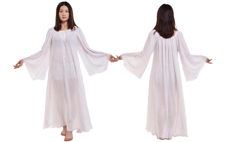 WHITE MEDIEVAL CHEMISE DRESS
