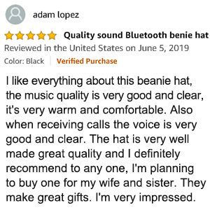 bluetooth hat