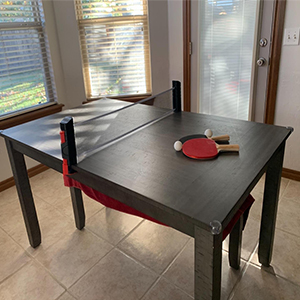 set on table