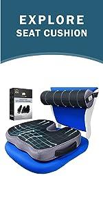 CushionCare Seat Cushion and Lumbar Roll Combo
