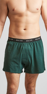 cotton boxer shorts green mens underwear 3xl 2xl soft comfy spandex stretchy tagless bolter pack
