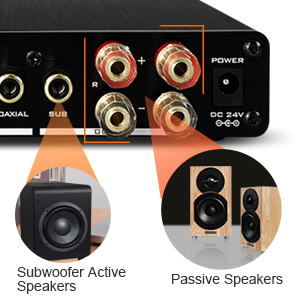 amplifier with subwoofer output