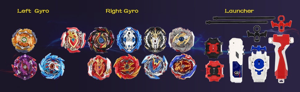Types of gyros and launchers