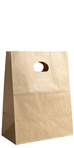 Die Cut Kraft Paper Bags