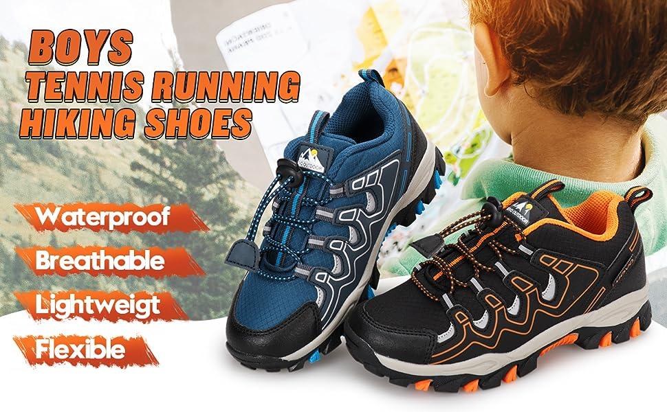 boys black hiking shoes