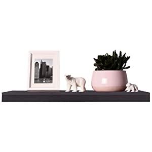 EUGAD Estante Flotante de Pared Retro Estanter/ía de Pared Madera Colgar Libro CD para Salon Dormitorio 50cm Negro 0124QJ