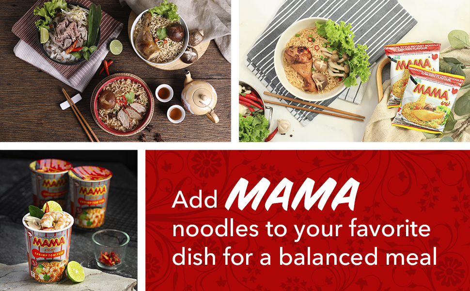 add mama noodles to your favorite dish for a balanced meal