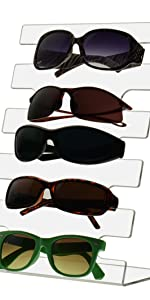 Marketing Holders Set of 5 Sunglasses Display Holder Stand Holds 6 Pairs