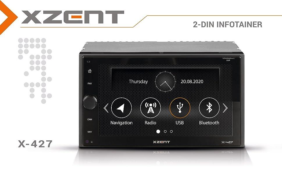 Xzent X-427: 2-DIN Autoradio mit DAB+, USB uns Bluetooth