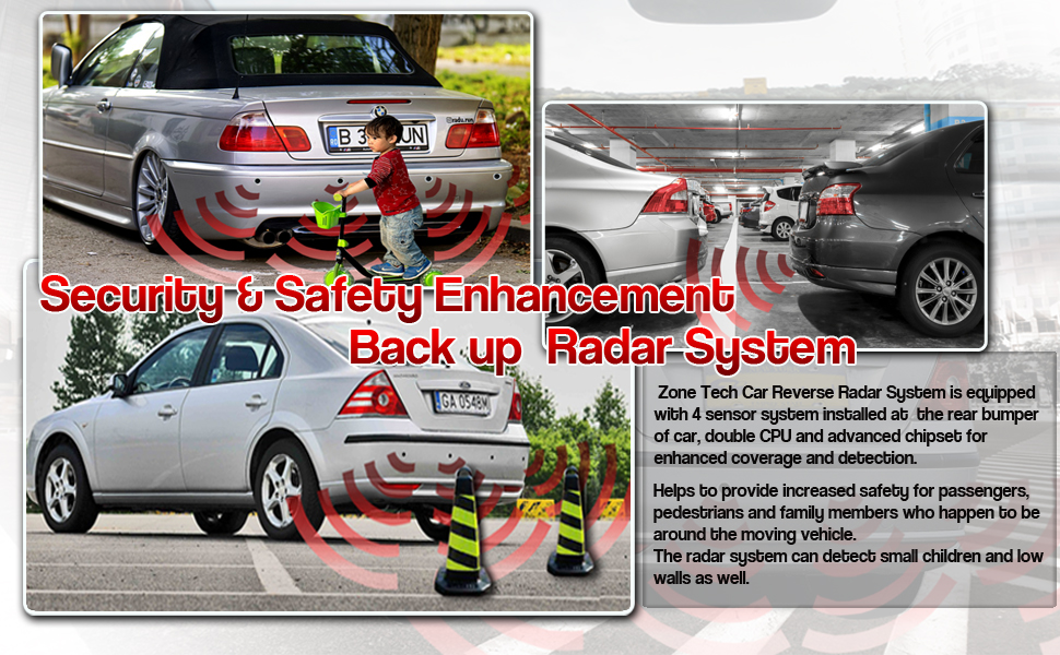 amazon com new 4 parking sensors led display car reverse backup radar system car electronics new 4 parking sensors led display car reverse backup radar system