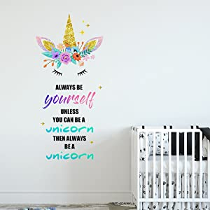 unicorn wall stickers for girls