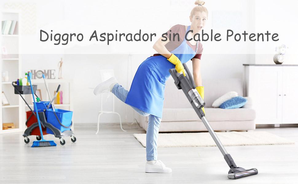 Diggro Aspirador sin Cable Potente 21KPa, de Mano 2 en 1 con ...