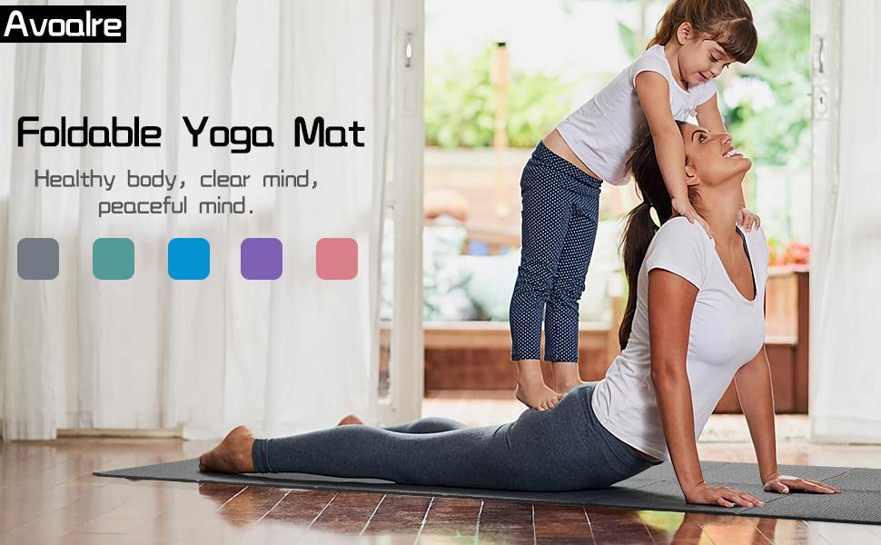 Yoga Mat Opvouwbare Non-Slip Draagbare 60CM x 173CM x 5CM