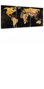 canvas prints world map