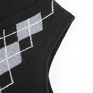 V neck sweater sleeveless pullover for women