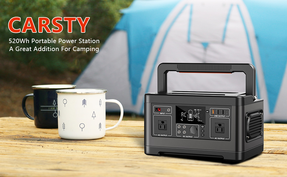 520Wh Power Station for Camping