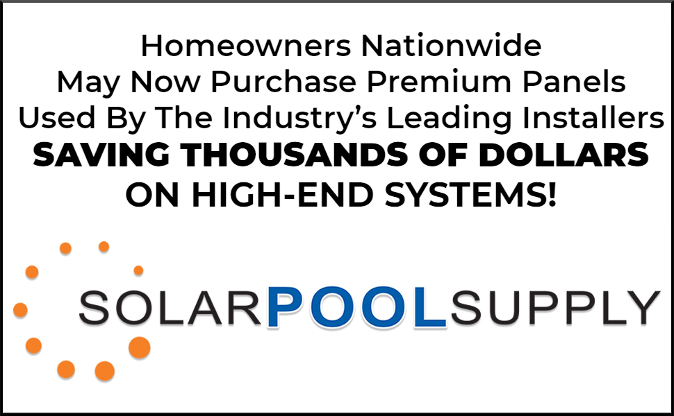 premium pool solar heater panels