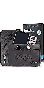 ticonn phone faraday bag