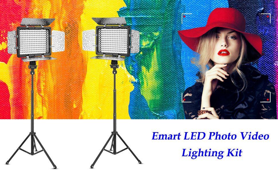 led photo cideo lighting kit