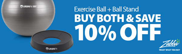 exercise ball and exercise ball stand