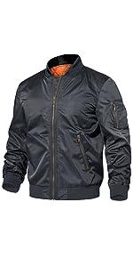 mens bomber fleece jacket