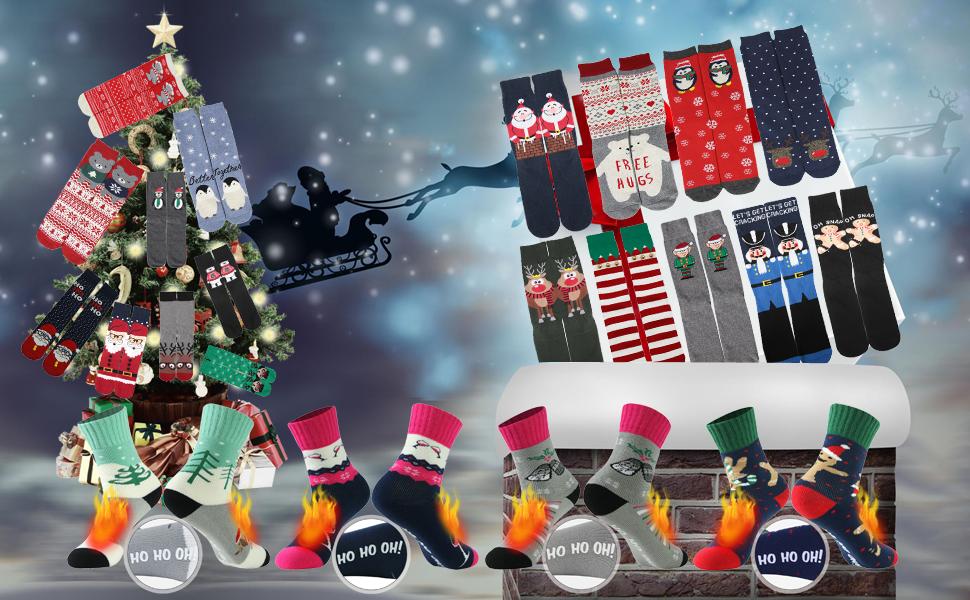 christmas gift cute crazy socks