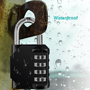 durable combination padlock outdoor weatherproof waterproof combination lock outside anti-rust