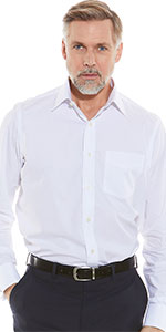 WHITE FORMAL SHIRT mens for men stylish classic fit