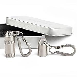 titanium pill holder