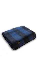 Blue Wool Blanket Heavy Queen