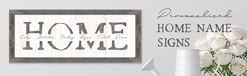 Personalized Home Family Name Signs