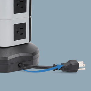 This retracable power strip tower is wire adjustable.
