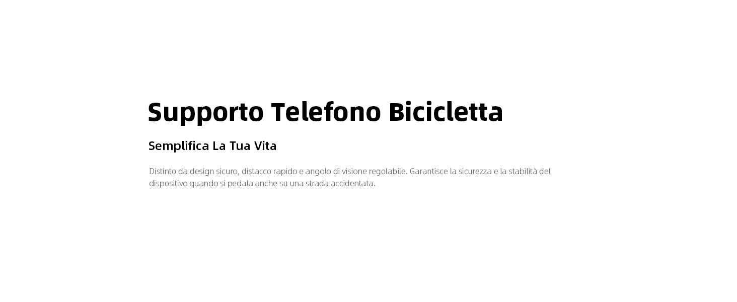 Supporto Telefono Bicicletta