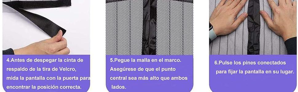 HOUSE DAY Cortina magnética para Puerta contra Mosquitos e Insectos, Cortina magnética de Malla Suave para Verano 90cm x 210cm: Amazon.es: Bricolaje y herramientas