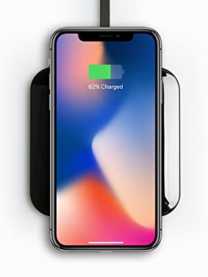Black 7mm Thin, Qi-Certified BEZALEL Futura X 15W Fast Charge Charging Pad Compatible with iPhone 11//11 Pro//11 Pro Max//XR//XS//X//8 Plus Galaxy S20//S10//S9 Note 10//9//8 Sony LG G7//G8//V40 Pixel 3//4 XL