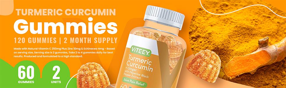 turmeric curcumin Gummies 120 GUMMIES | 2 MONTH SUPPLY
