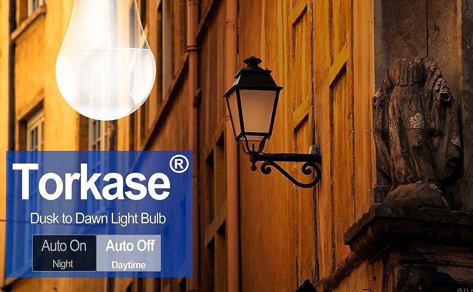 Torkase Dusk to dawn light bulb 12W