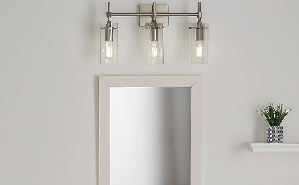 vanity light lighting wall sconce sconces bathroom glass wall lamp dining room