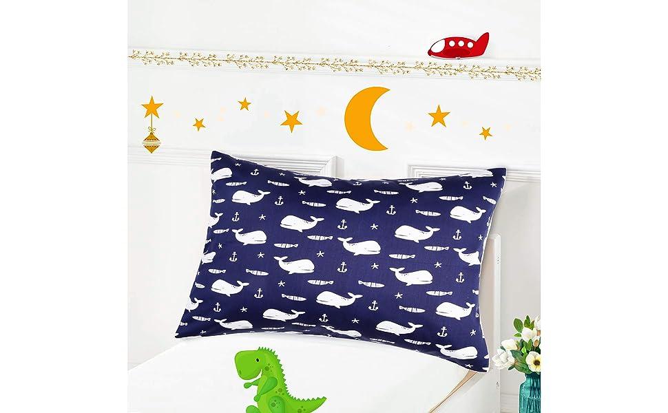 toddler pillowcase whales