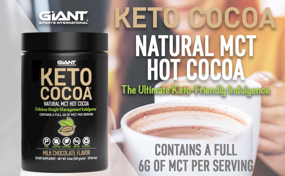 Giant Sports Keto Cocoa Natural MCT Hot Cocoa