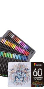 Zenacolor 60 Rotuladores Punta Fina 60 Colores Únicos
