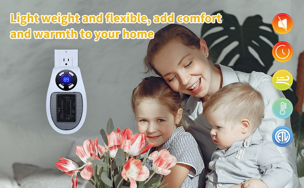 Wall Outlet Electric Space Heater