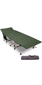 """28/"""" Extra Wide Sturdy Portab Details about  /REDCAMP Folding Camping Cots for Adults Heavy Duty"""