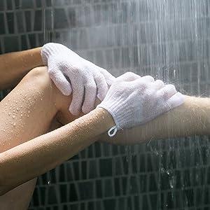Exfoliating Gloves Body Exfoliator Solution for Keratosis Pilaris