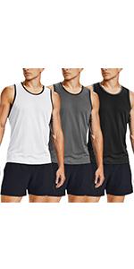 mens workout tank 3 pack tank top gym muscle shirt sleeveless bodybuilding shirt summer shirt men