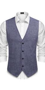 Men's Casual Button vest