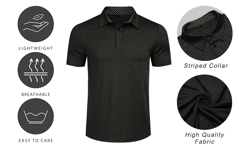short sleeve polo shirts for men