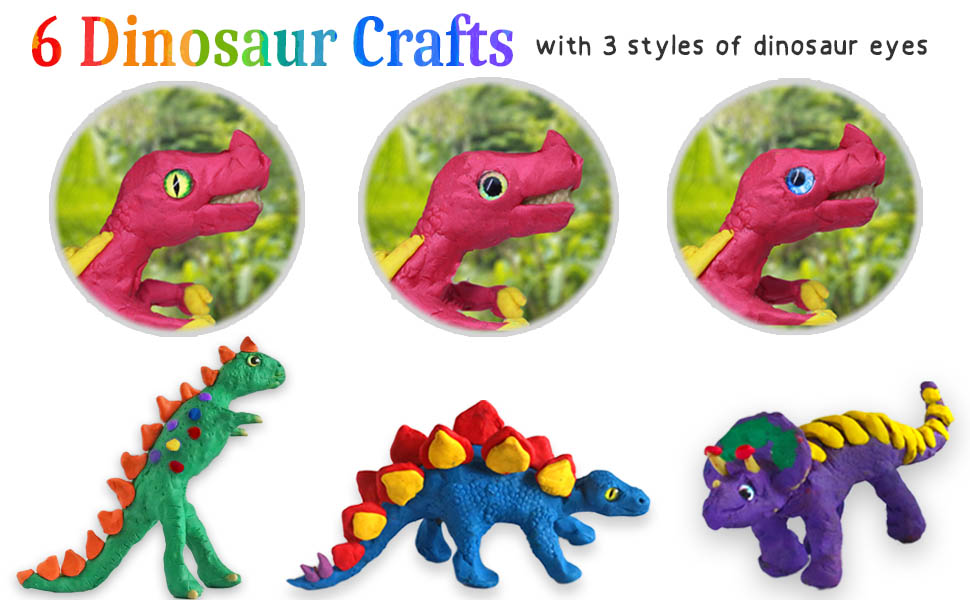 Non drying modeling clay Dinos craft set for boys girls dinosaurs playset paleontologist kit