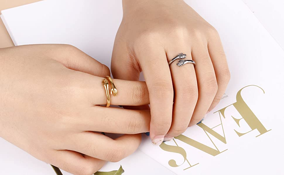 YAZILIND Personality Rings Cubic Zirconia Anniversary Party Ring Black Gold Plated Jewelry Gift