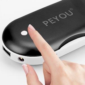 Cadeau de No/ël Parfait PEYOU Chauffe-Mains Rechargeable,5200mAH USB Chaufferette Main /électrique R/éutilisable Portable Batterie Externe avec d/éclairage LED Compatible pour iphone,Samsung,etc
